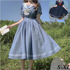 cute, short sleeve dress, Lolita, costumescosplay