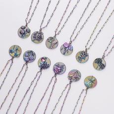 Steel, Fashion, engravednecklace, gold