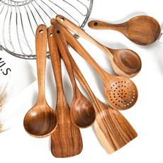 woodutensil, woodkitchenutensilset, Cooking, Wooden
