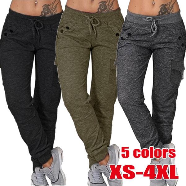 Women Pants, runningpant, elastic waist, sport pants