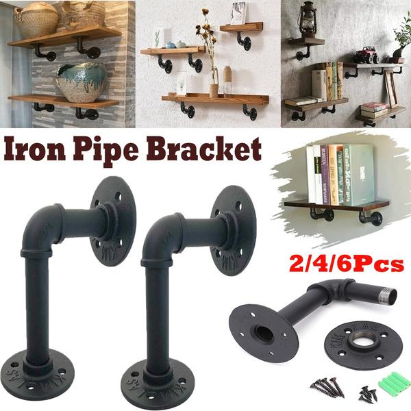 ironpipebracket, Decor, floatingshelfbracket, flangepipeshelfbracket