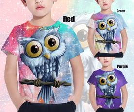 Owl, Fashion, owlkidstshirt, kid3dshirt
