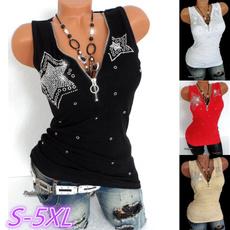 Vest, Plus Size, V-neck, tank top