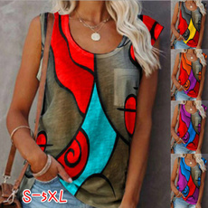 blouse, Tanktops for women, Plus Size, Floral print