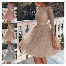 pink, longsleevedressforwomen, slim, pleated dress