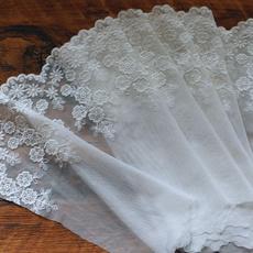 embroiderylaceribbon, Fashion, dressfabric, flowerlacetrim
