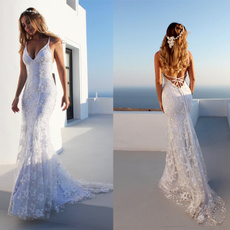 Sexy Wedding Dress, Sexy Dress, Lace, fulldres