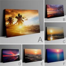 livingroomwallpainting, sunsetwallpainting, Decor, largewallpainting