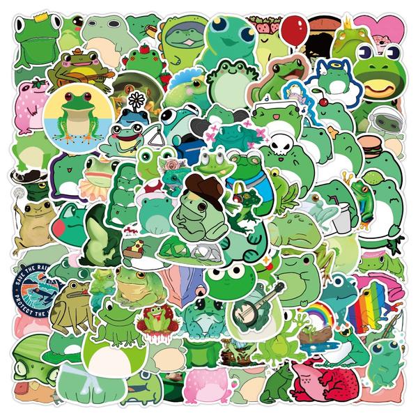 frogsticker, Car Sticker, suitcasesticker, Luggage