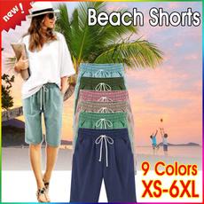 Summer, Beach Shorts, Waist, Casual pants