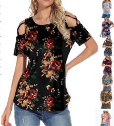 Summer, Shorts, Floral print, Shirt