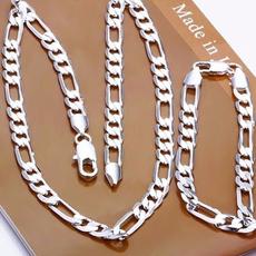 Sterling, figarochainnecklace, Fashion, Jewelry