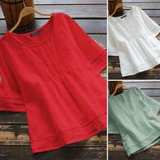 shirtsforwomen, blouse, halfsleevedshirt, Cotton Shirt