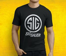 sauer, Men, gun, T Shirts