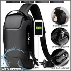 menwaistbag, waterproofmenbag, usb, crossbodybagformen