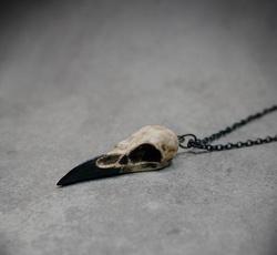 birdnecklace, Goth, Jewelry, skull