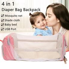 babybedbackpack, multifunctionbackpack, Capacity, usb