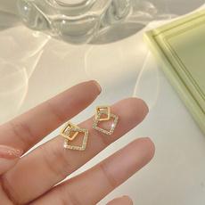 Ladies Earrings, Romantic, gold, Exquisite Earrings