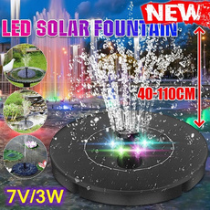 waterfountainsolar, waterfountainoutdoor, Solar, Colorful