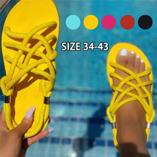 Summer, Flip Flops, Fashion, Lace