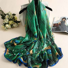 Summer, Fashion, peacock, featherscarf