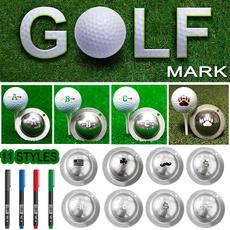Steel, golfaligner, golfballmarker, Stainless Steel