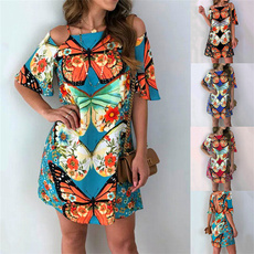 butterflyprint, butterfly, Fashion, sleeve dress