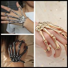 Goth, wedding ring, skull, Bracelet