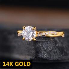 crystal ring, Infinity, wedding ring, gold