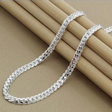 Sterling, Sideways, Chain Necklace, Jewelry