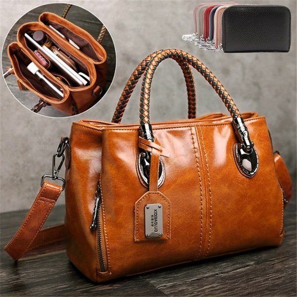 Shoulder Bags, Fashion, Capacity, leather