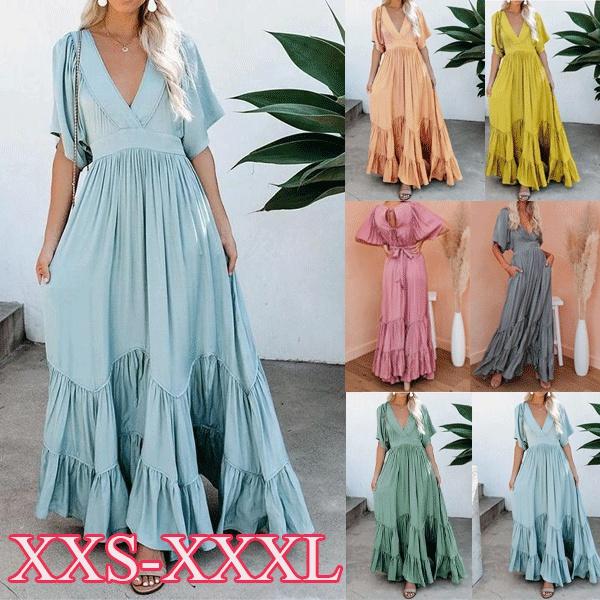 dressesforwomen, ruffle, Necks, Sleeve