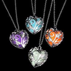 Fashion Jewelry, luminousnecklace, Jewelry, glowindarkheartpendantnecklace