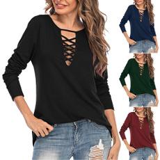 vnecktshirt, sleeve v-neck, crosscuttshirt, Sleeve