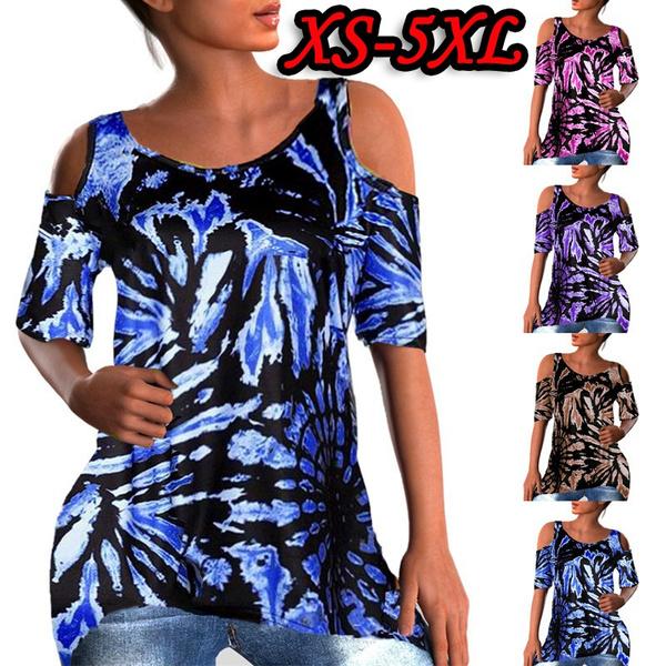shirtsforwomen, Summer, off shoulder top, Plus Size