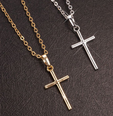 Sterling, Necklaces Pendants, Christian, Cross necklace