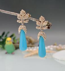 golden, Fashion, Earring, DIAMOND