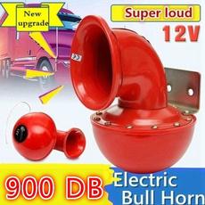 Electric, boathorn, hornssiren, Red