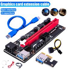 4pin6pinadapter, graphicscard, usb, Pins