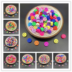 polymer, mixedcolorbead, Jewelry, Colorful