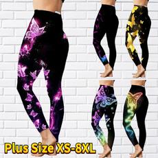 butterfly, Fitness, Plus Size, skinny pants