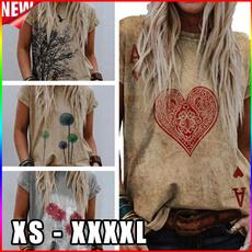 Heart, Poker, Plus Size, Graphic T-Shirt