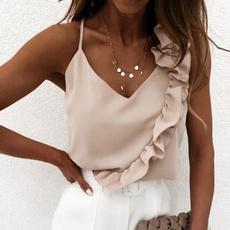 Summer, Vest, Fashion, ruffle
