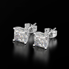 White Gold, 8MM, Jewelry, Stud Earring