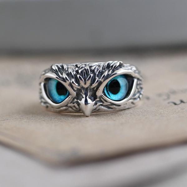 Sterling, Owl, Fashion, animalring