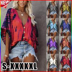 summertopsforwomen, blouse, Bat, Plus Size