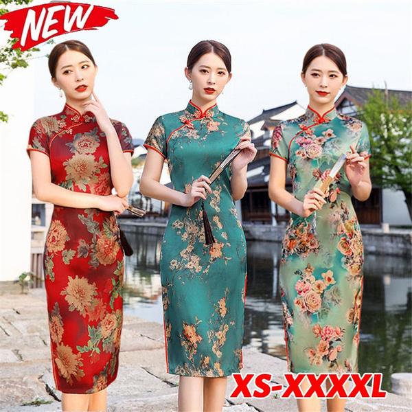 Plus Size, chinastyle, cheongsam, Evening Dress