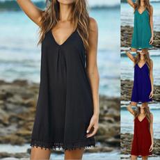 Summer, Necks, Beach, Dress