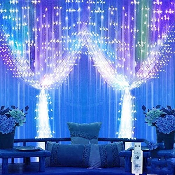 curtaindecor, Remote, Night Light, Christmas