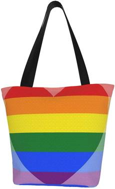 Heart, worktote, totebagforwomen, rainbow